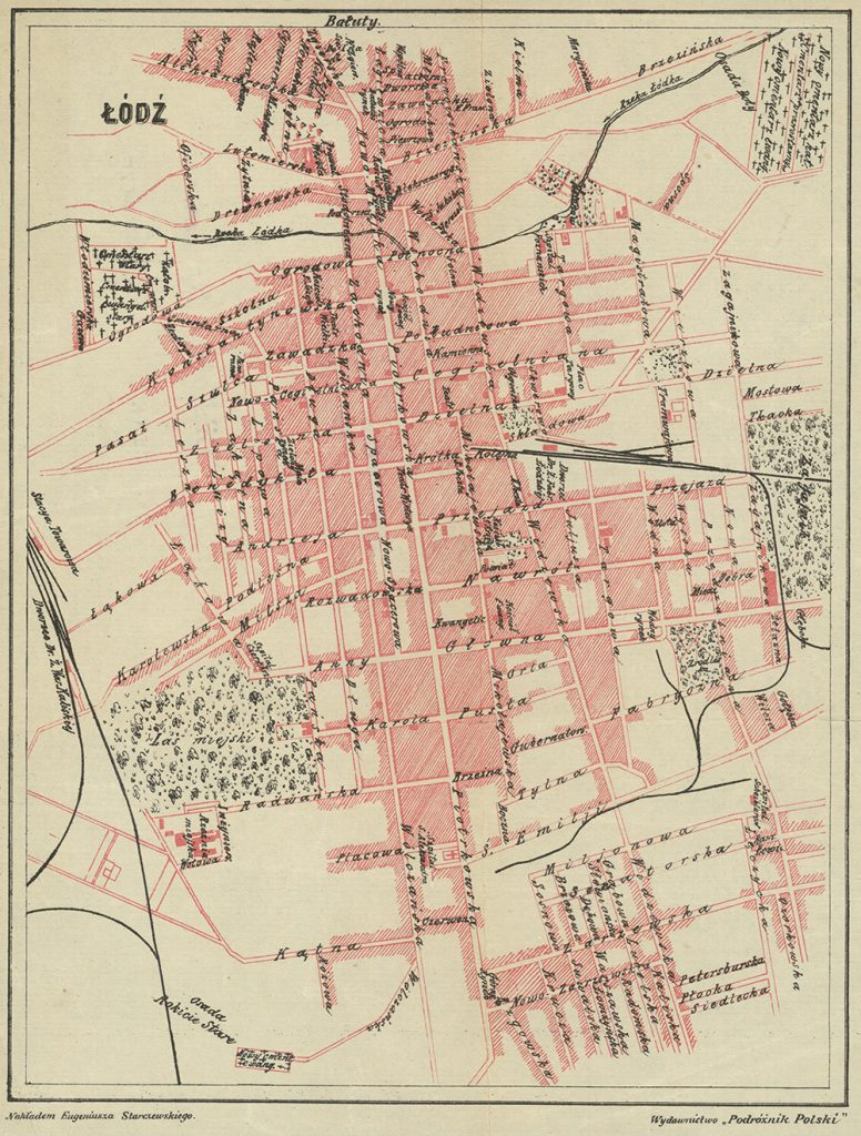 Plan Łodzi z 1903 roku.