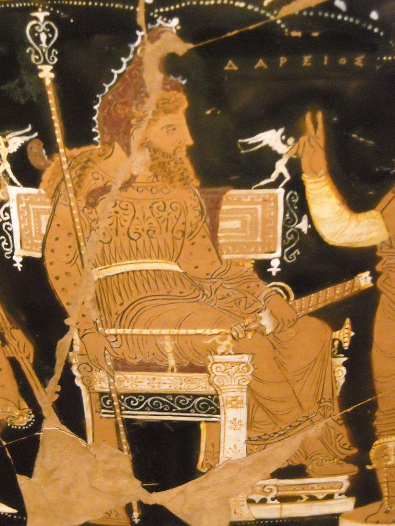 Podobizna Dariusza Wielkiego pochodząca z greckiej wazy (Carlo Raso/CC BY-SA 2.0).