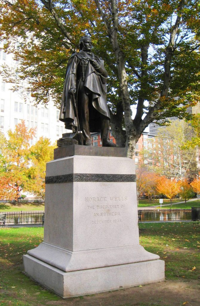 Pomnik Horace'a Wells w Hartford (Daderot/domena publiczna).