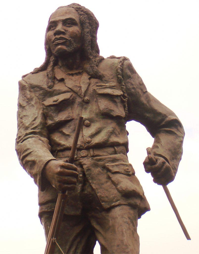Pomnik bojownika Mau-Mau.
