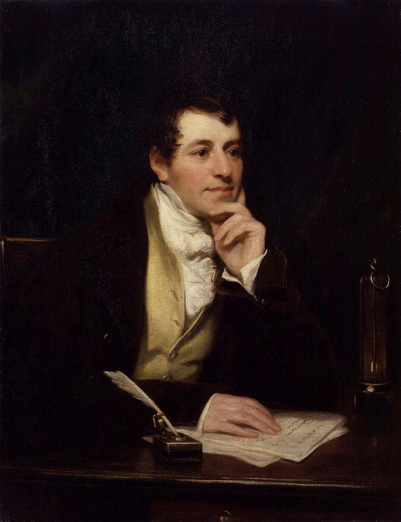 Portret Humphry'a Davy'ego pęzla Thomasa Phillipsa (domena publiczna).