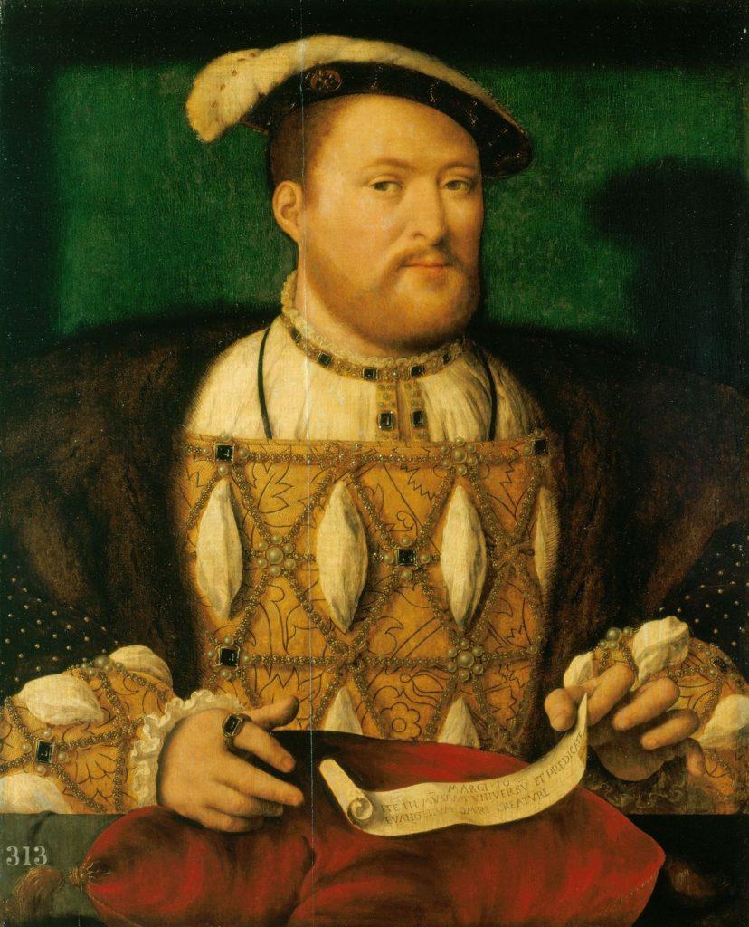Portret około 40-letniego Henryka VIII (Joos van Cleve/domena publiczna).