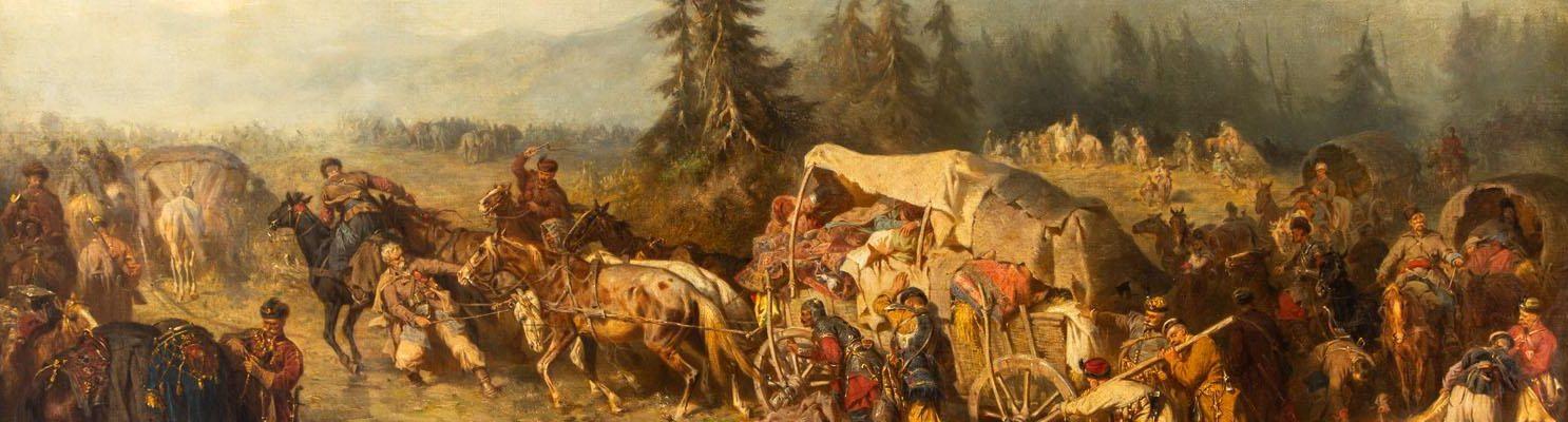 Powrót z wyprawy wiedeńskiej. Obraz Józefa Brandta z 1865 roku.