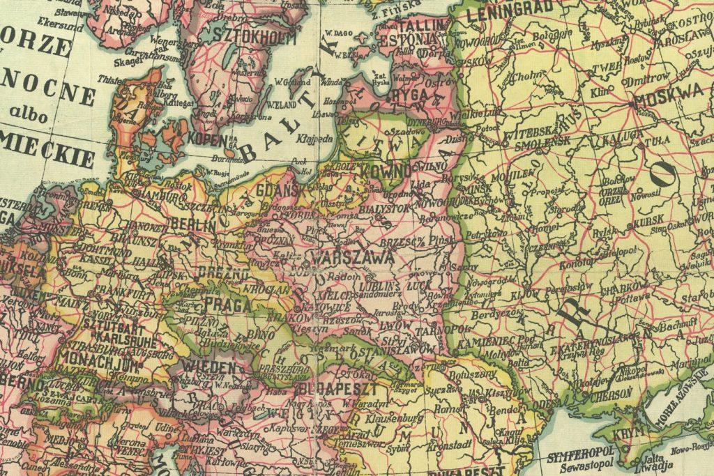 Przedwojenna Polska graniczyła z dwoma wrogo nastawionymi mocarstwami (Józef Michał Bazewicz/domena publiczna).