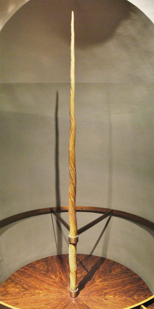 Róg jednorożca eksponowany w wiedeńskim muzeum