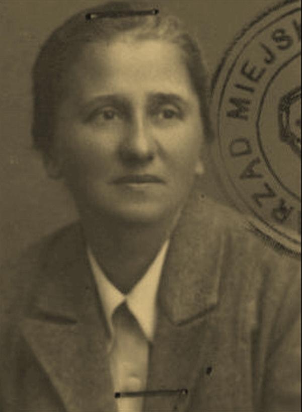 Stefania Perzanowska na zdjęciu z 1945 roku.