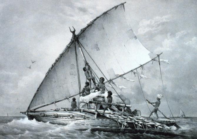 Takich łodzi używali podróżnicy mówiący językami malajsko-polinezyjskimi