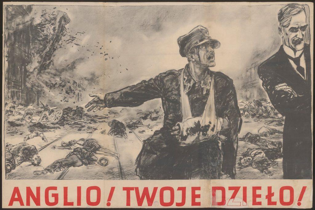 To podczas zrywania takiego plakatu Niemcy aresztowali Elżbietę Zahorską (domena publiczna).