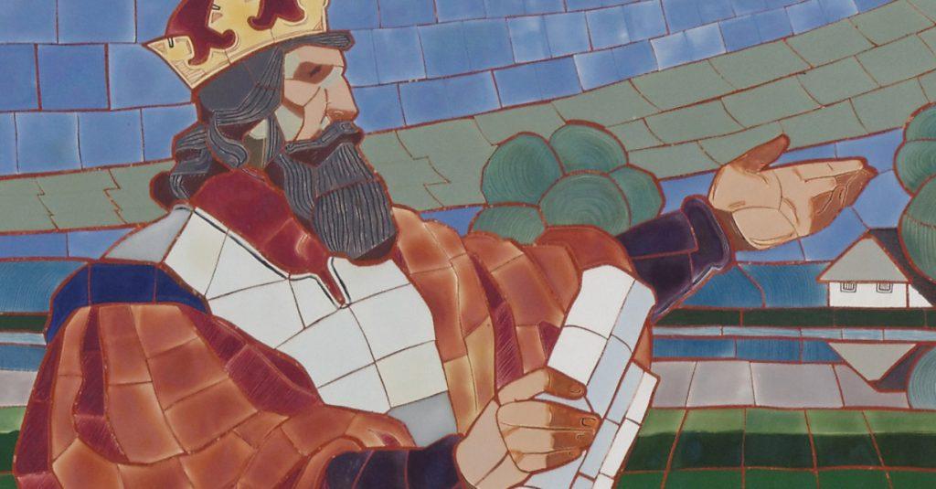 Wacław II na współczesnej mozaice