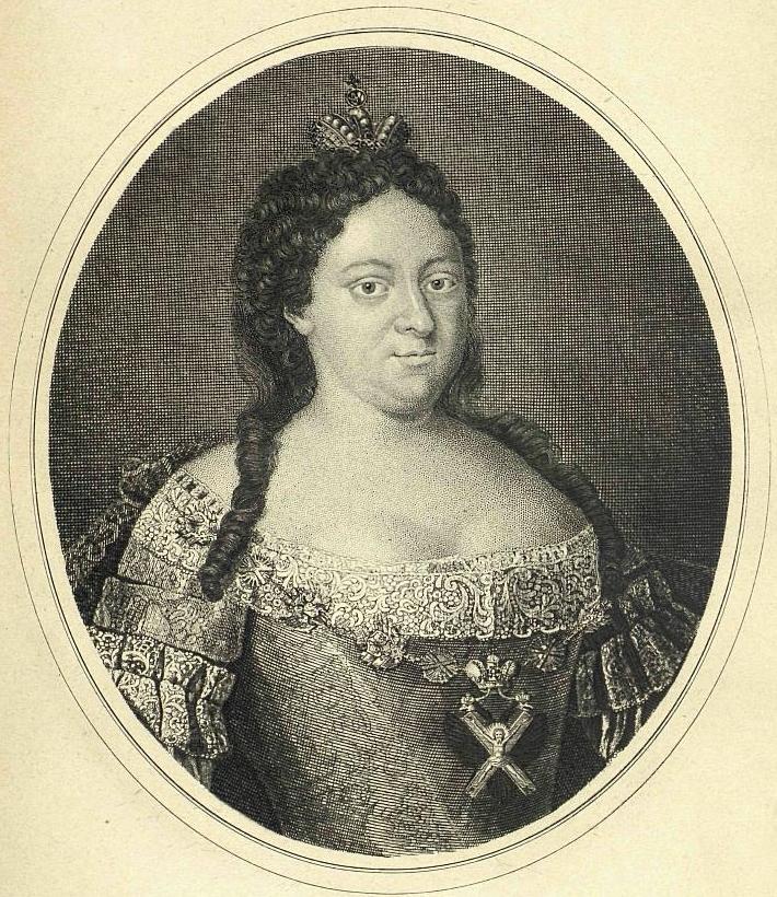 Wizerunek carycy Anny z 1740 roku (domena publiczna).
