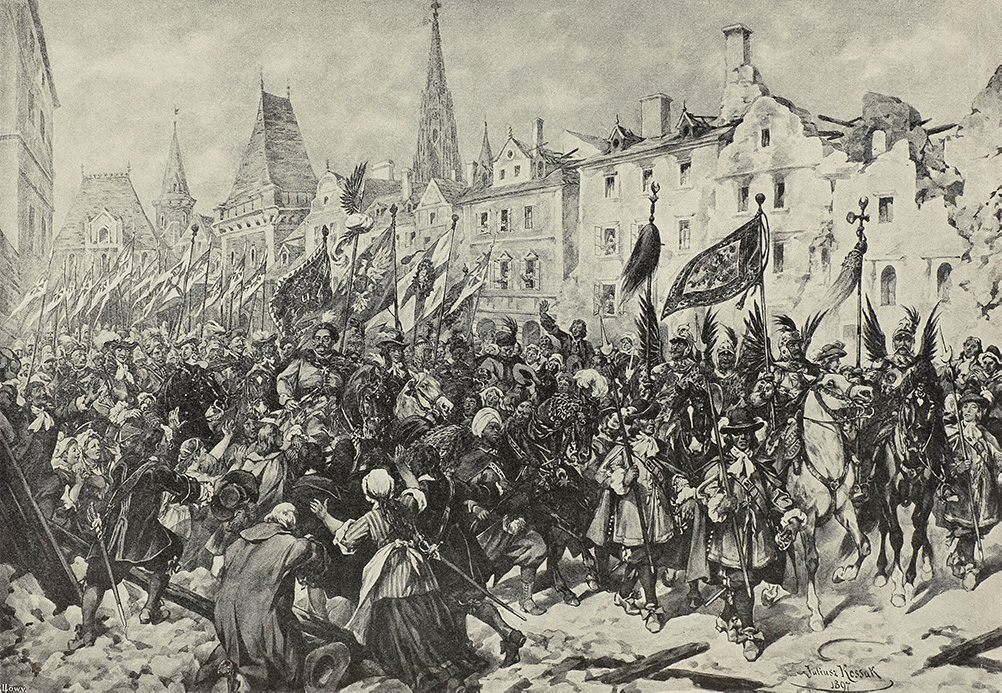 Wjazd Jana III Sobieskiego do Wiednia po zwycięskiej bitwie