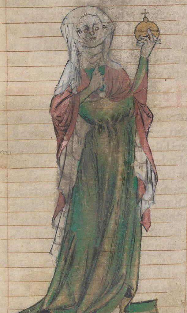 Wyobrażenie Troty z XIV-wiecznego francuskiego egzemplarza Trotuli