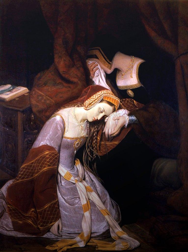 Załamana Anna po tym jak osadzono ją w Tower (Édouard Cibot/domena publiczna).