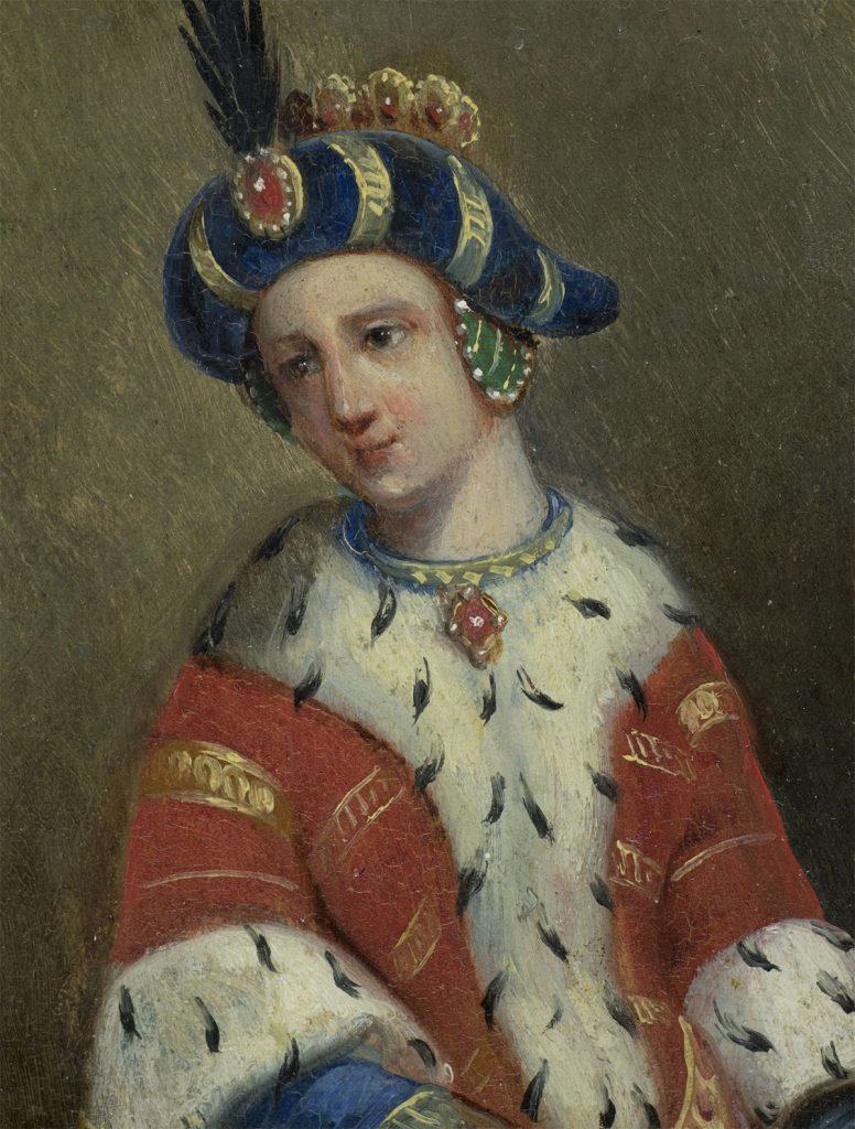 Zofia Holszańska na XIX-wiecznym portrecie pędzla Marcelego Krajewskiego.