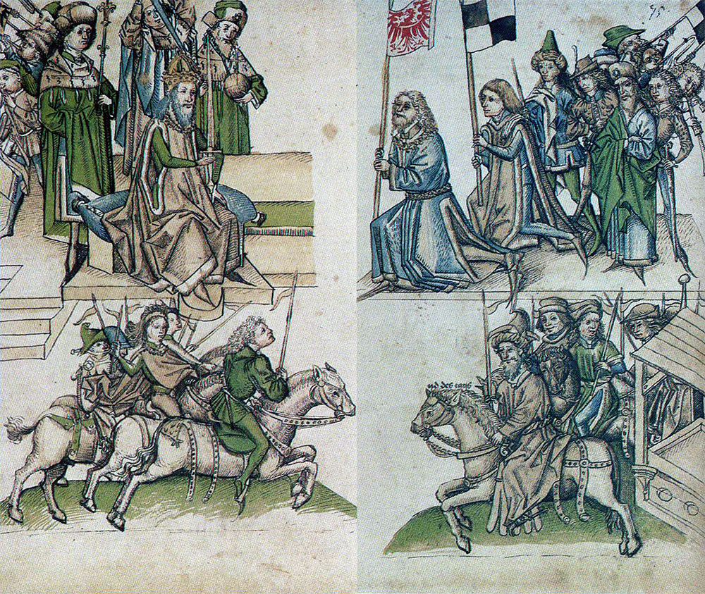 Zygmunt Luksemburski odbiera hołd lenny od Fryderyka Hohenzollerna
