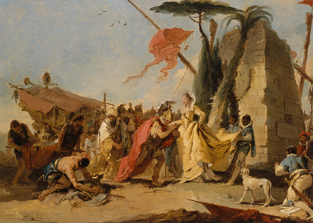 Antoniusz i Kleopatra. Na obrazie Giovanniego Battity Tiepoli z połowy XVIII wieku.