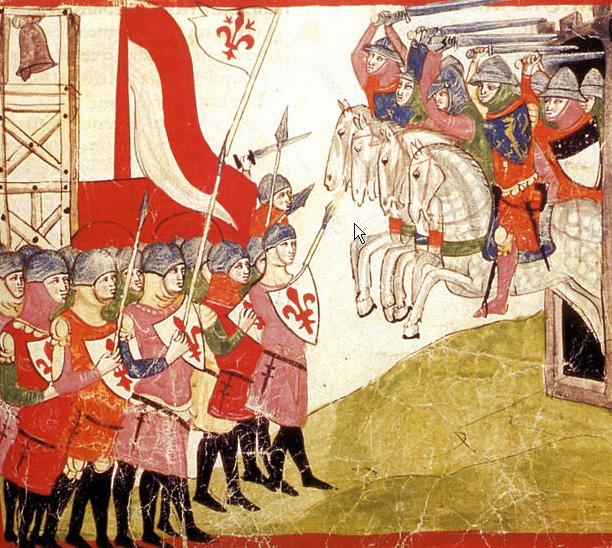 Bitwa pod Montaperti na miniaturze z epoki.