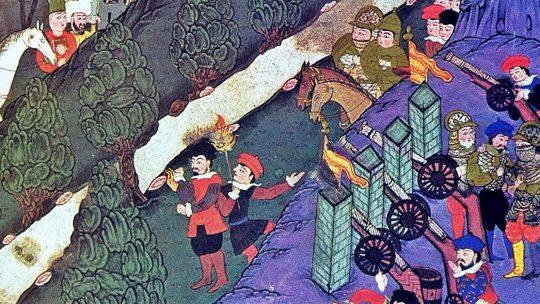 Bitwa pod Nikopolis na tureckiej miniaturze z XVI wieku.