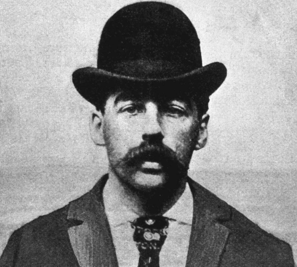 Herman Webster Mudgett vel Henry Howard Holmes na zdjęciu wykonanym w 1895 roku (domena publiczna).