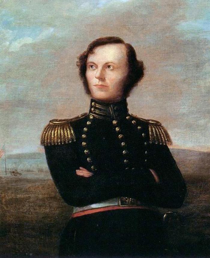 James W. Fannin na portrecie z lat 20. XIX wieku (domena publiczna).