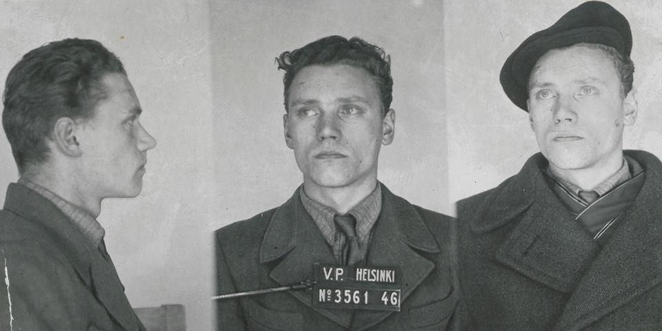 Lauri Törni po aresztowaniu w 1946 roku.