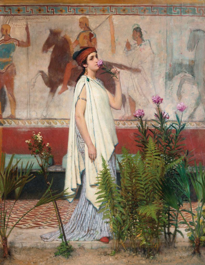 Młode mieszkanki Aten do związków z bliskimi krewnymi zmuszało nawet prawo (Lawrence Alma Tadema/domena publiczna).
