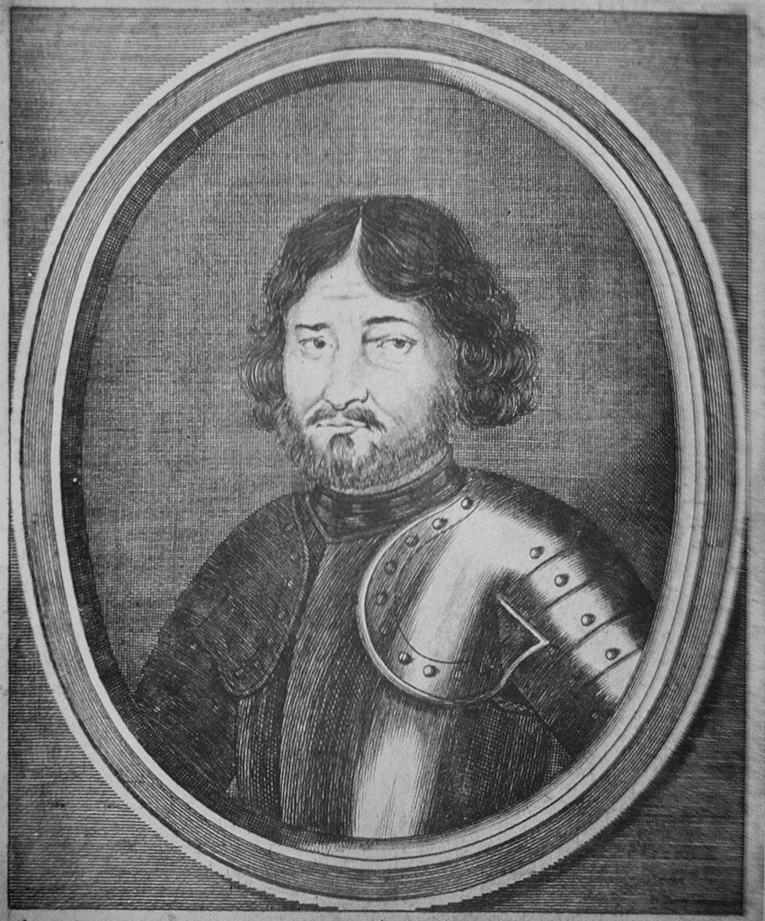 Na polską stronę przeszedł hospodar wołowski Grzegorz Girca. Na ilustracji podobizna hospodara z 1663 roku (domena publiczna).