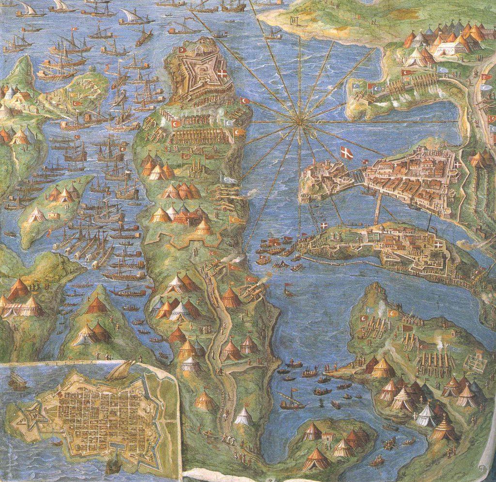 Oblężenie Malty według Ignazio Dantiego (domena publiczna).