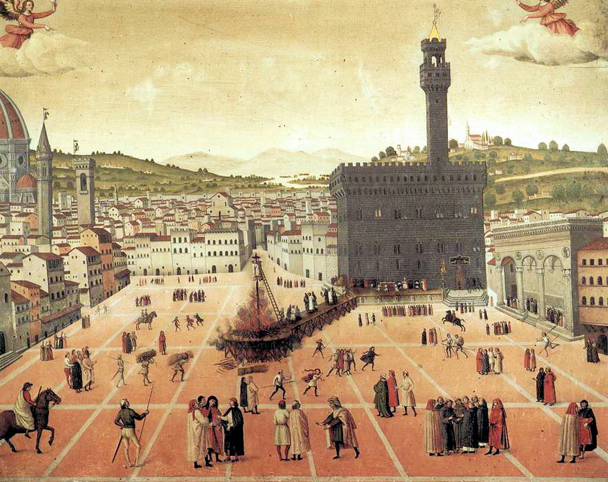 Palazzo della Signoria na rycinie z XVII wieku.