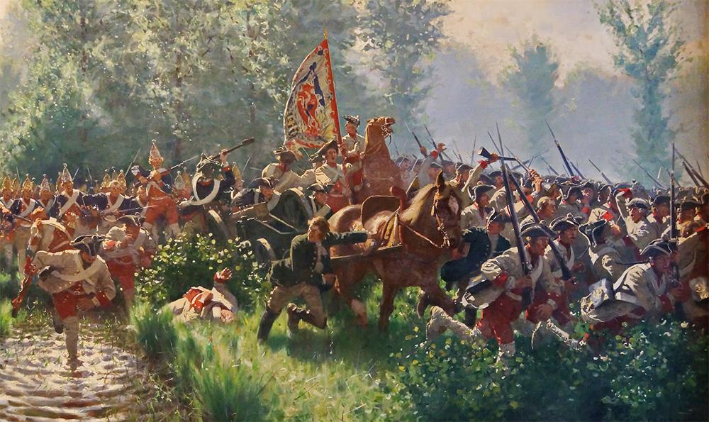 Pruscy grenadierzy w walce podczas wojen śląskich