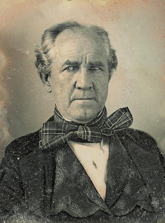 Sam Houston na zdjęciu z około 1850 roku (domena publiczna).