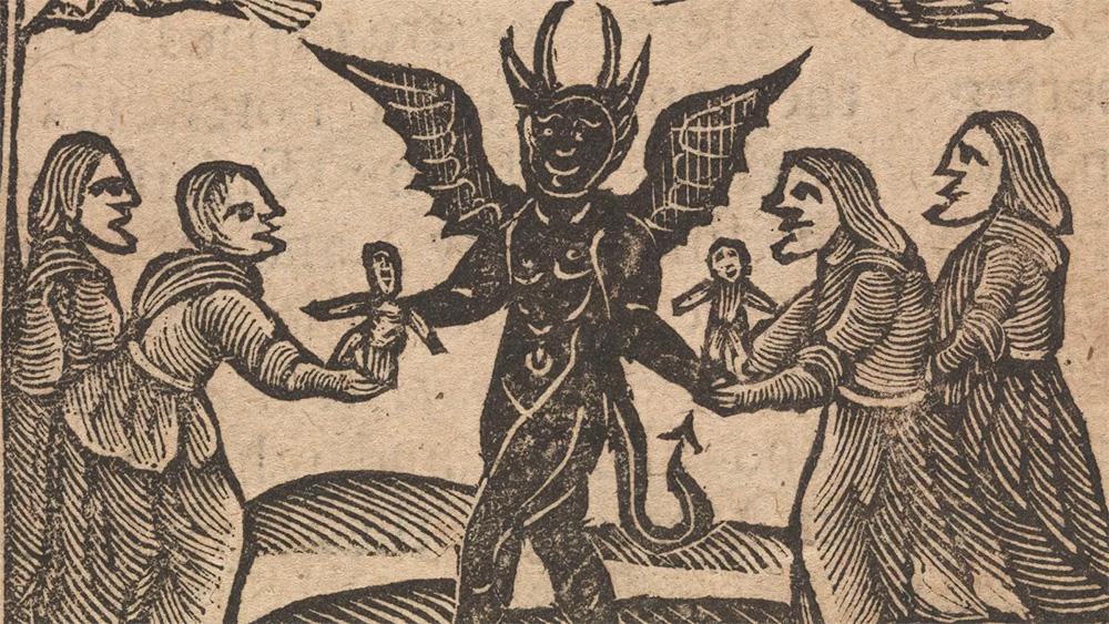 Szatan i jego pomocnice. Grafika nowożytna.
