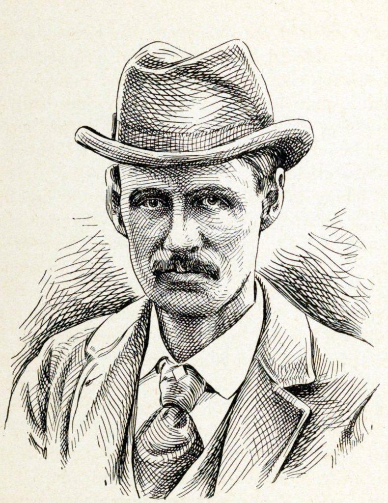 Wspólnik Holmesa Benjamin Pitezel. On również marnie skończył (domena publiczna).