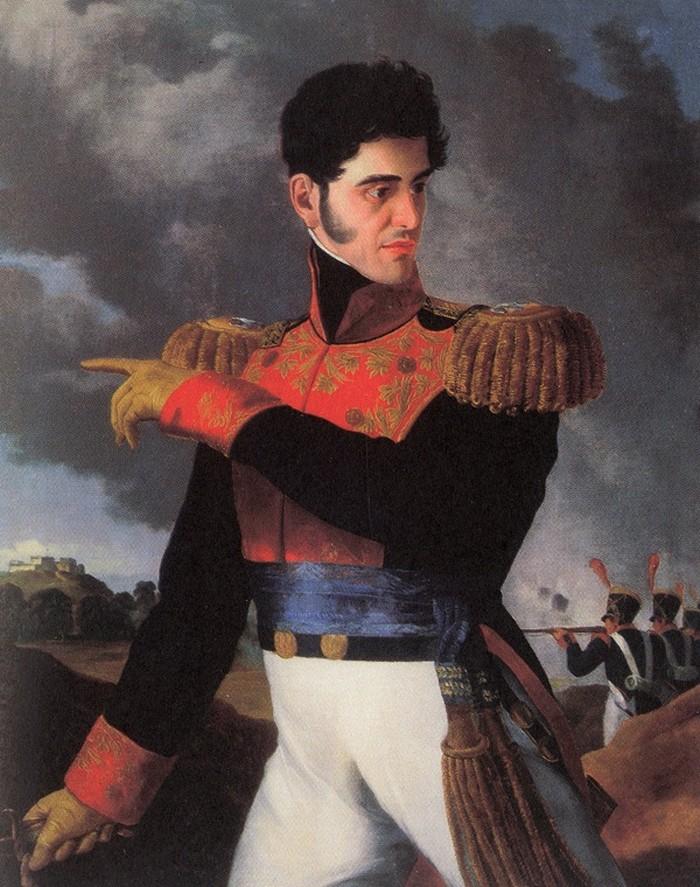 XIX-wieczny portret prezydenta Antonio Lopeza de Santa Anny (Carlos Paris/domena publiczna).
