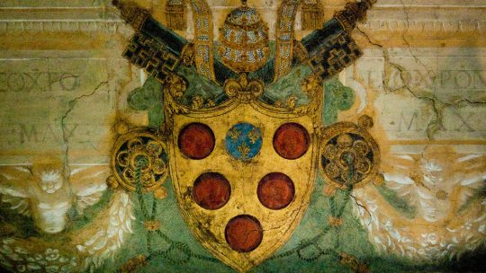 Herb rodu Medyceuszy w muzeum watykańskim