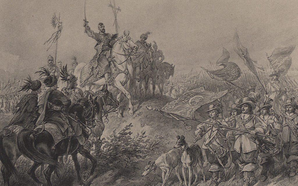Książę Jeremi na Mogile. Ilustracja do Ogniem i Mieczem
