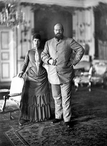 Maria Romanowa z mężem Aleksandrem III.