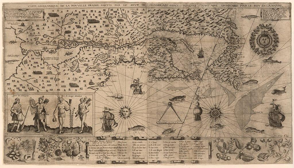 Nowa Francja na mapie Samuela de Champlaina
