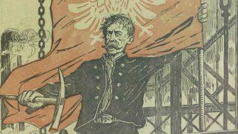 Powstaniec śląski. Rysunek okładkowy czasopisma Kocynder