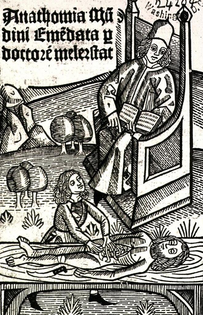 Sekcja zwłok wyobrażona w późnośredniowiecznej kopii traktatu Liuzziego