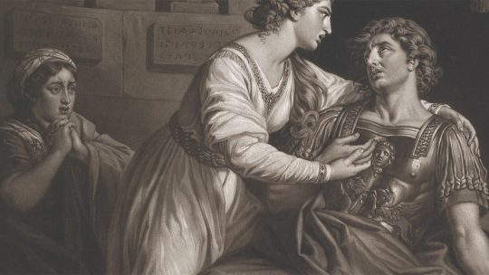 Śmierć Marka Antoniusza w wyobrażeniu Thomasa Watsona. Rok 1780.