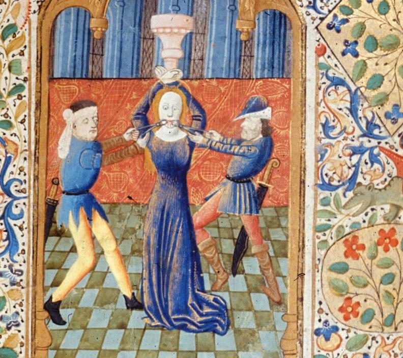 Święta Apolonia torturowana poprzez wyrywanie zębów.