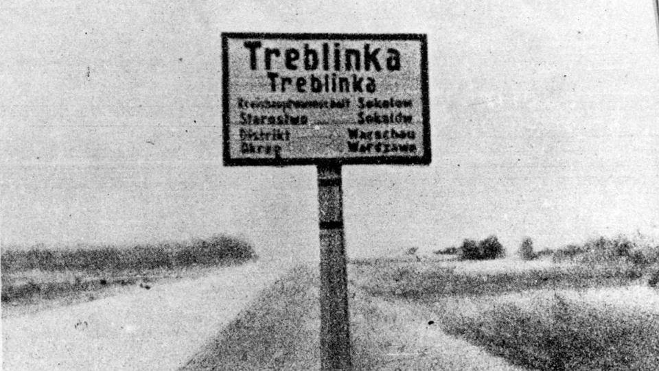 Treblinka. Znak z okresu II wojny światowej.