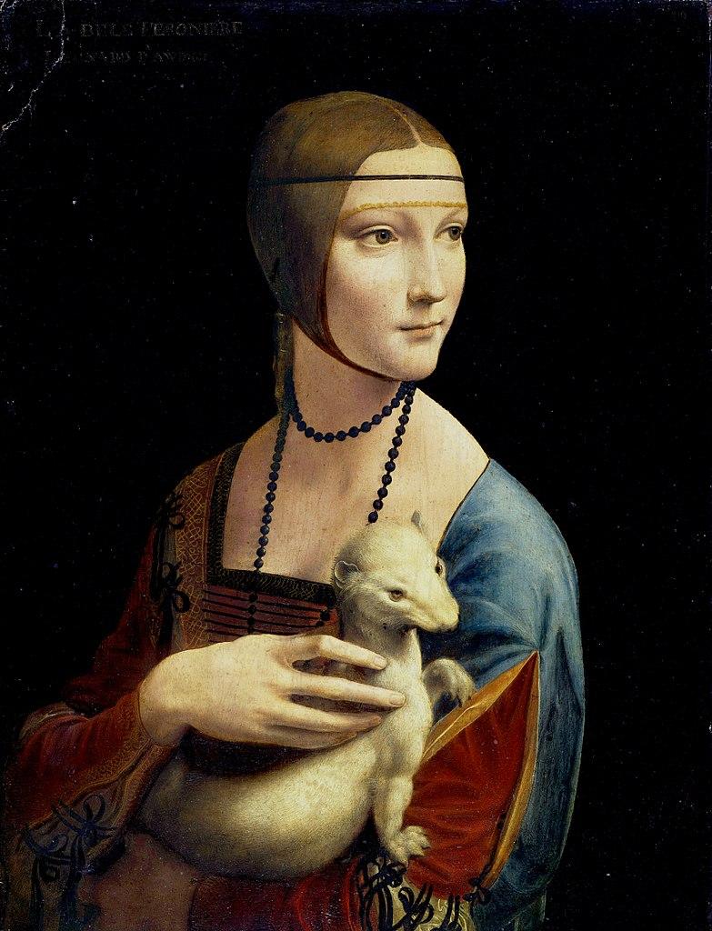 Uciekając z Krakowa Frank zabrał ze sobą cenne dzieła sztuki. Jednym z nich była Dama z gronostajem Leonarda da Vinci (domena publiczna).