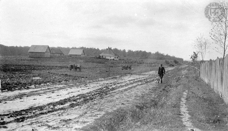 Wieś Okopy na przedwojennej fotografii