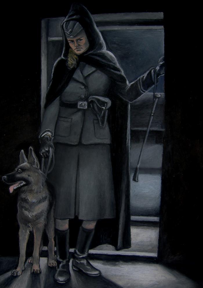 Portret Irmy Grese autorstwa Joanny Czopowicz (domena publiczna).