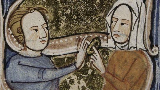 Zaślubiny na średniowiecznej miniaturze