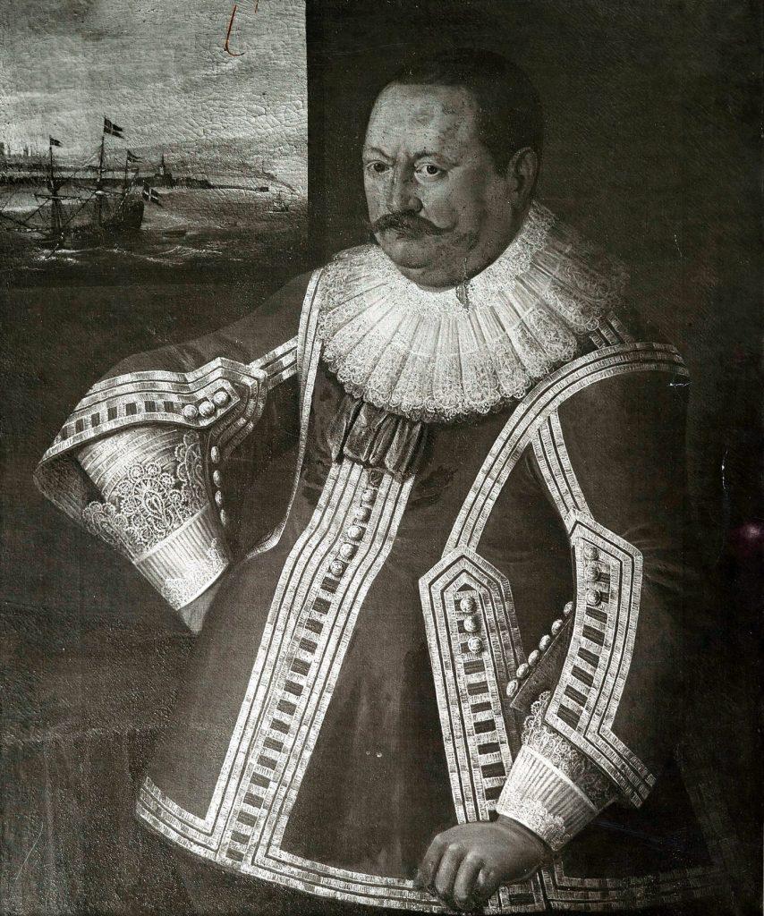 Przedwojenna fotokopia XVII-wiecznego portretu Arendta Dickmanna (domena publiczna).