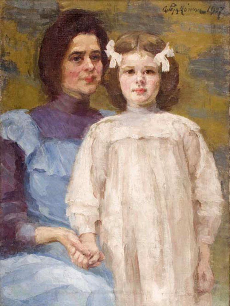 Aniela Pająkówna. Autoportret z 1907 roku.
