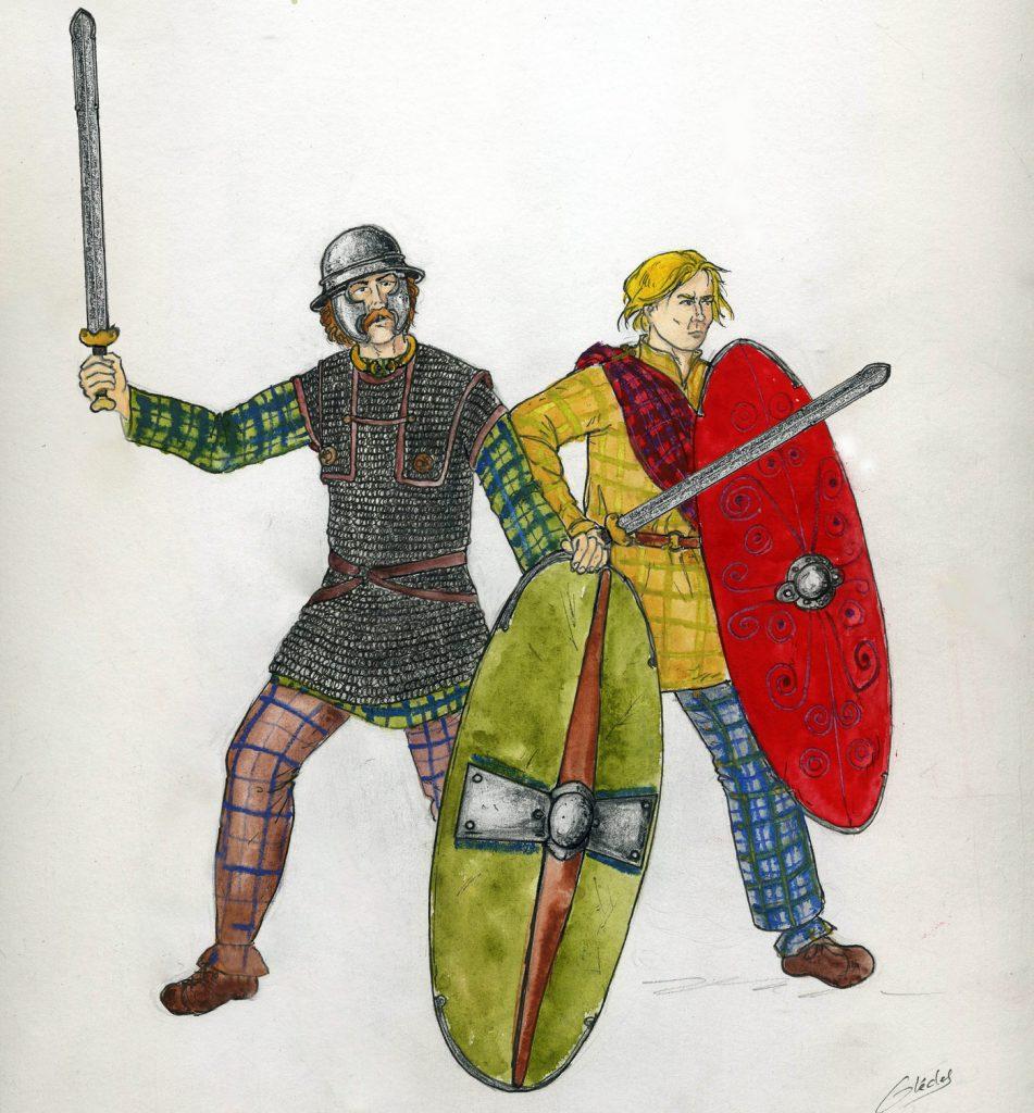 Rysunek przedstawiający celtyckich wojowników (Nid123/CC BY-SA 3.0).